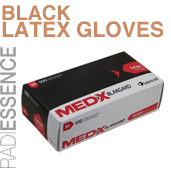 Disposable Black Latex Gloves