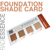 RADIESSENCE Foundation Shade Card