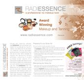 RADIESSENCE Tanning Brochures (Wide)