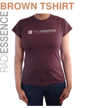 RADIESSENCE T Shirt (Brown Short Sleeve)